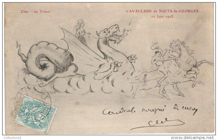 NUITS SAINT GEORGES .... CAVALCADE ... 1905 .... CHAR DU TRESOR ... DRAGON - Nuits Saint Georges
