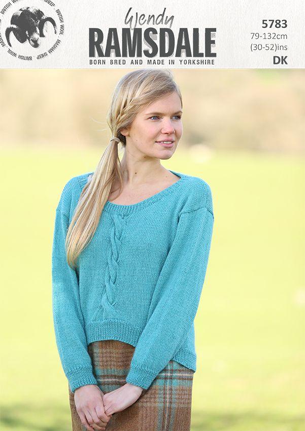 5783 - Sweater design in Wendy Ramsdale dk http://www.tbramsden.co.uk/catalog/patterns/womens/5783