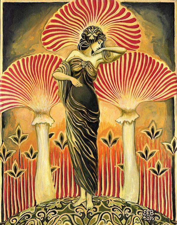 """Art - Goddesses, Muses & Spiritual Art, """"Soma Goddess"""" par Emily Balivet"""