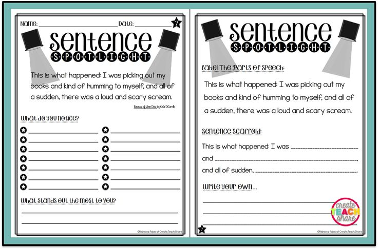 Upper Elementary Snapshots: Putting the Spotlight on Mentor Sentences  Example pages for Book
