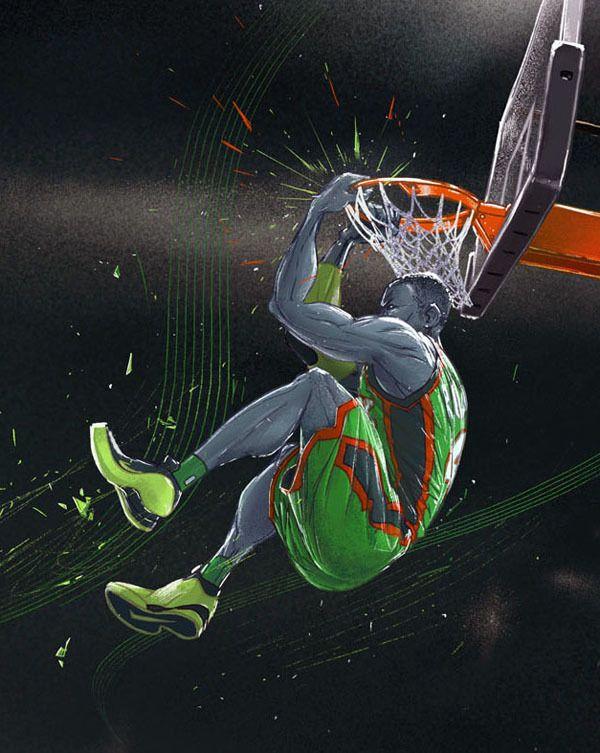 Slam Dunk History by Michal Dziekan, via Behance