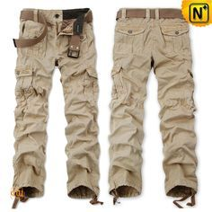 Mens Loose Cargo Workout Pants CW140480 Designer 100% cotton loose cargo workout pants for men with drawstring on the leg opening, our mens belted cargo pants is seriously rugged and also comfortable! Available in 4 colors!