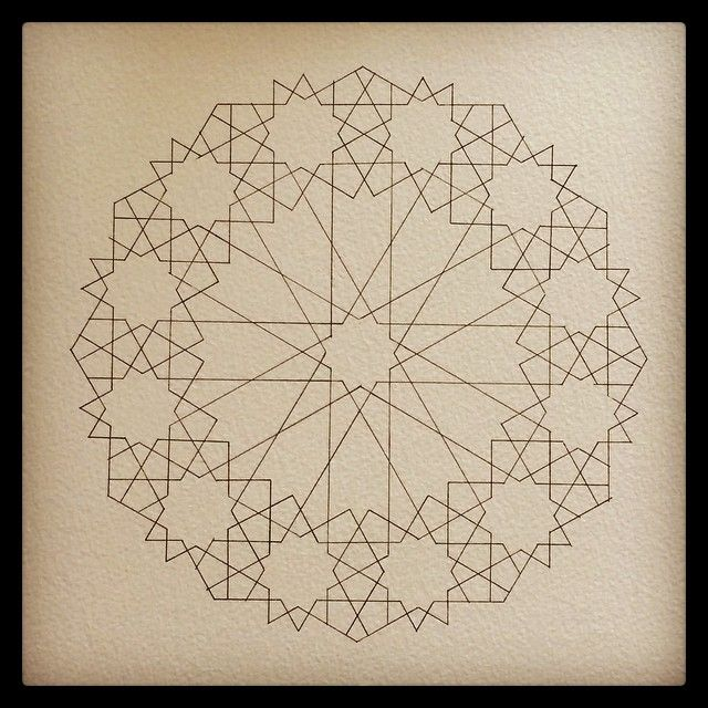 Instagram photo by @jeeamirza via ink361.com. Minimal and complex all at once. --CLK #sacredgeometry