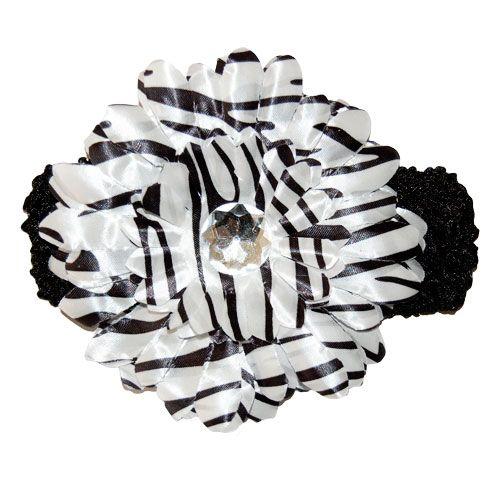 Zebra Gerbera Flower Headband
