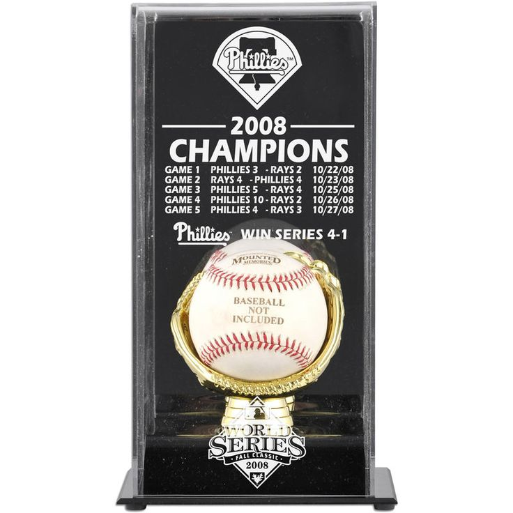 Philadelphia Phillies Fanatics Authentic 2008 World Series Champions Baseball Display Case