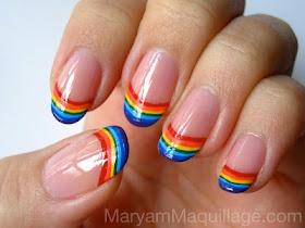 Happy Nails, Rainbow Tips