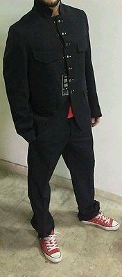 Abito maschile cerimonia giacca pantalone elegante classico sposo uomo nero 5254
