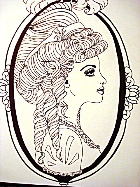 Victorian cameo tattoo idea