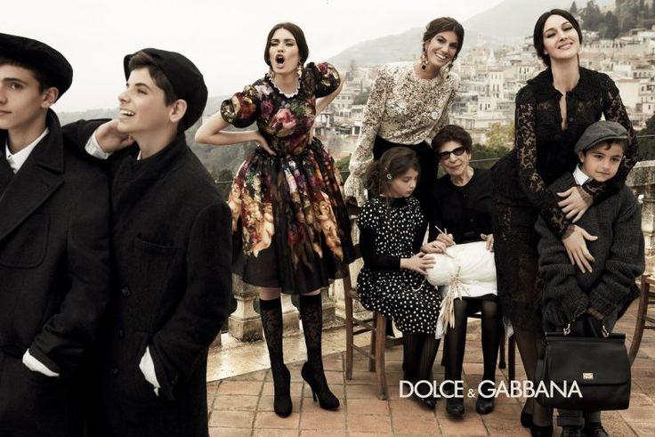 Monica Bellucci, Bianca Balti & Bianca Brandolini Are All in the Family for Dolce & Gabbanas Fall 2012 Campaign by Giampaolo Sgura.