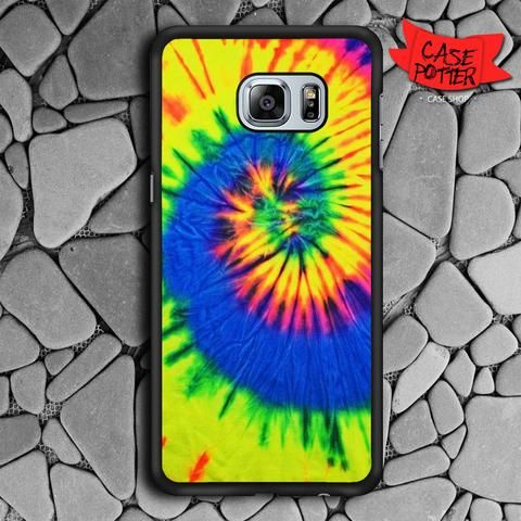 Tie Dye Color Samsung Galaxy S6 Edge Plus Black Case