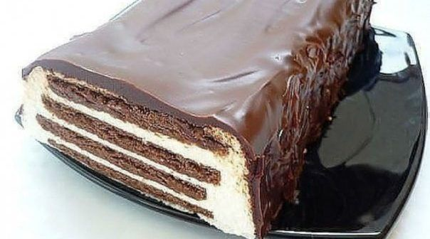 "WOW! Tort ""zebra"" – Un tort de biscuiti cu glazura de ciocolata – FARA COACERE – RETETA MAI JOS"