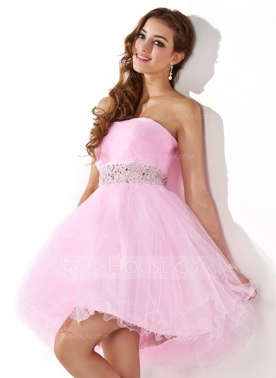 Homecoming Dresses - $97.49 - A-Line/Princess Sweetheart Short/Mini Tulle Homecoming Dress With Beading Sequins (022020909) http://jjshouse.com/A-Line-Princess-Sweetheart-Short-Mini-Tulle-Homecoming-Dress-With-Beading-Sequins-022020909-g20909?gver=WkEGk