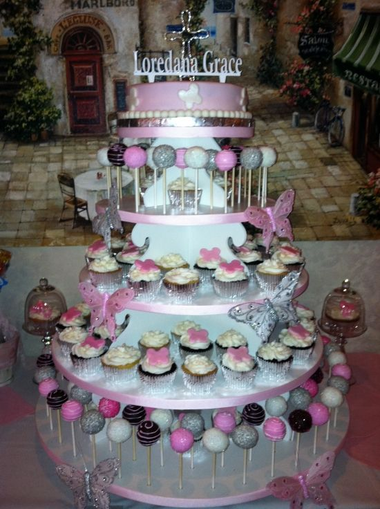 Cake Table Ideas For Christening : 25+ best ideas about Christening Party Decorations on ...