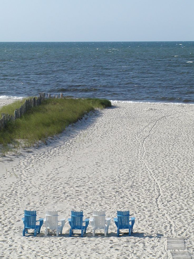 High Quality Adirondack Chairs On The Beach