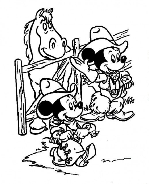 mickey and minnie mouse the cutest cowboys of a ranch