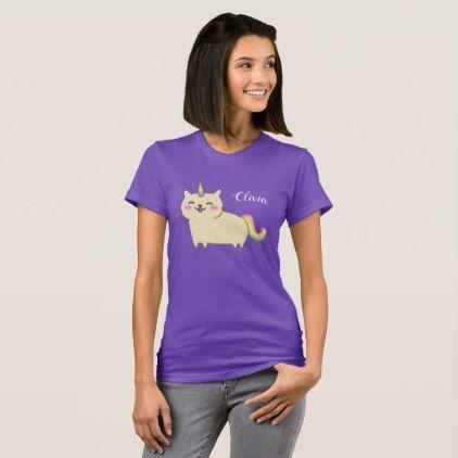 Unicorn Cat Kawaii Shirt - kids birthday gift idea anniversary jubilee presents
