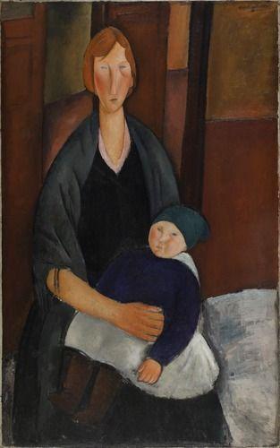 Amedeo Modigliani (1884 - 1920)  Maternité 1919 Huile sur toile 130 x 81 cm