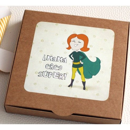 Un regalo para una heroína de comic. Pack Mama Eres Súper - Regalos