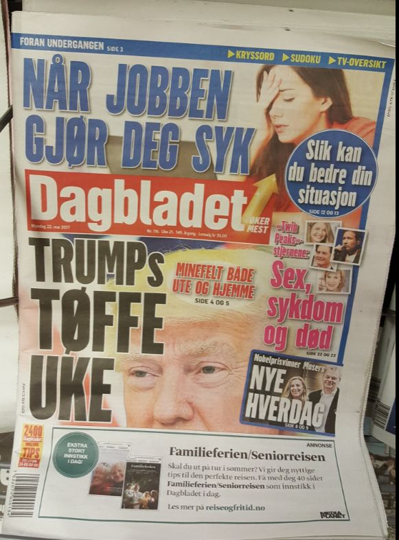 Many in Oslo are hopeful that President Trump's presidency is coming to an end, impeached for trying to influence an investigation and ties to Putin. However, like most, they are basing their opinion and hopes on mainstream media reporting and Liberal propaganda.  An MSM Norwegian Paper on May...