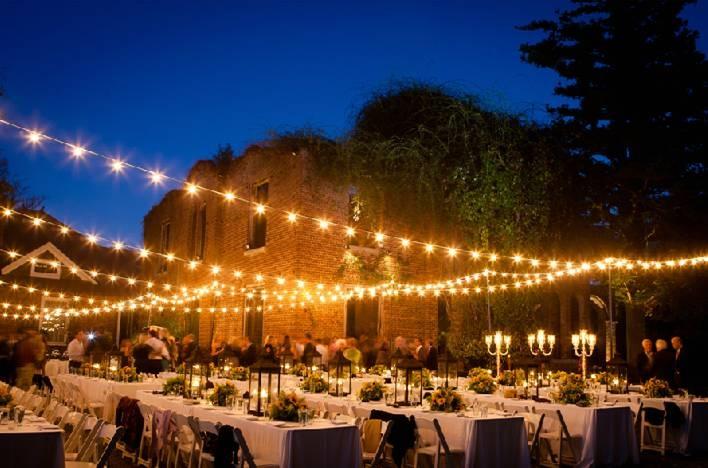 Wedding U0026 Reception @ Romantic Outdoor Lighting At Barnsley Gardens Resort  In Georgia. #startlemenow #startle #forbestravelguide | #WeddingToWood ...