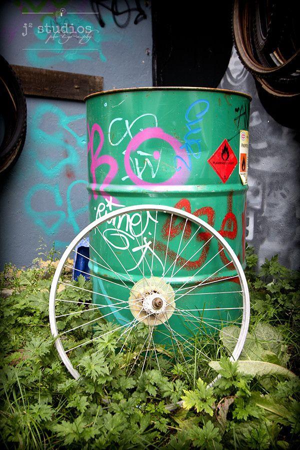 Rim Graffiti - Artsy Bicycle Photography Art Print