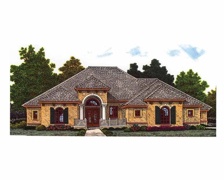 Mediterranean House Plan with 2621 Square Feet and 4 Bedrooms from Dream Home Source | House Plan Code DHSW69650
