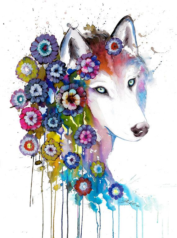 Cased in flowers- signed Art Print