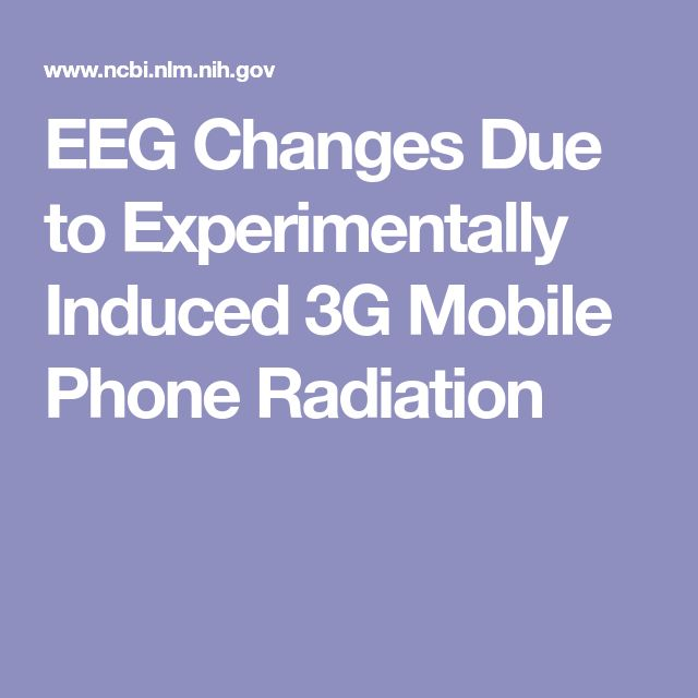 EEG Changes Due to Experimentally Induced 3G Mobile Phone Radiation