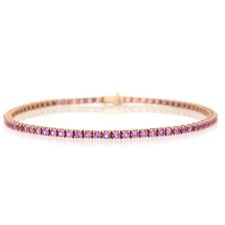 9K Rose Gold Pink Sapphire Bracelet For Sale by Uwe Koetter.    www.uwekoetter.com