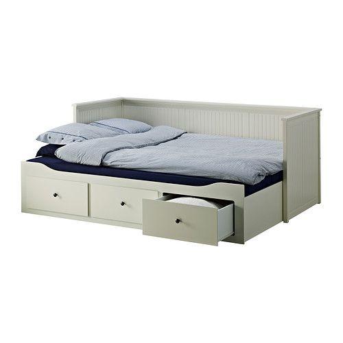 HEMNES Dagbäddstomme med 3 lådor, vit vit 80x200 cm