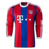 Bayern Munich 2014-15 season Home - Red Long - Sleeve Jersey [A309]