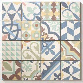 CASTORAMA - Mosaïque ciment mixcolor 30 x 30 cm Vous pouvez poser les mosaïques telles quelles ou les recouper selon vos envies, afin de créer un effet patchwork 12.90€