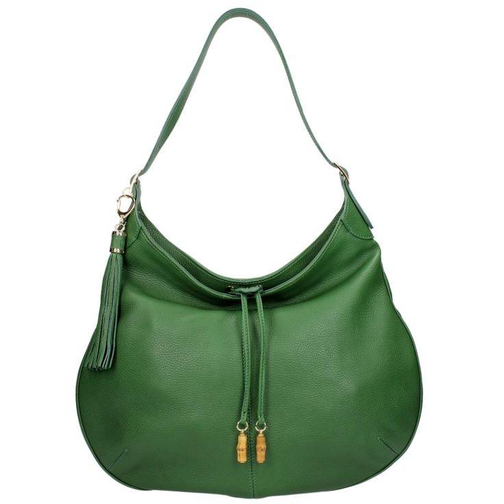 Buti Buideltas Verde groen hobo bag green leather