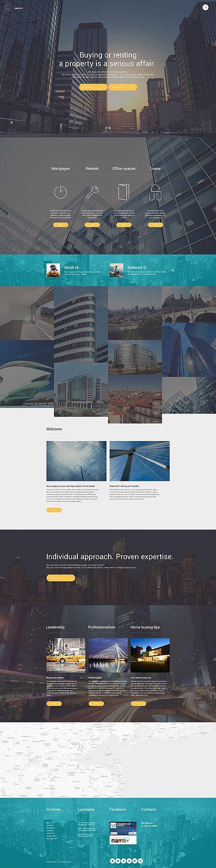 Template 62160 - Real Estate  Responsive Joomla Template