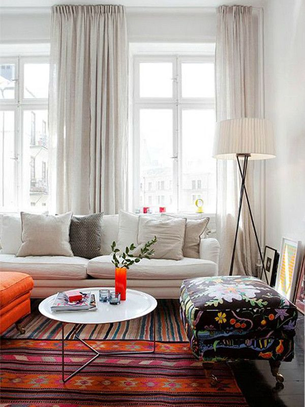You shouldn't be afraid of mixing different patterns and colors! Whether you're mixing traditional stripes and chevron or layering vintage Persian rugs and modern day Moroccan textiles, this is a bold way to incorporate this trend into your home.