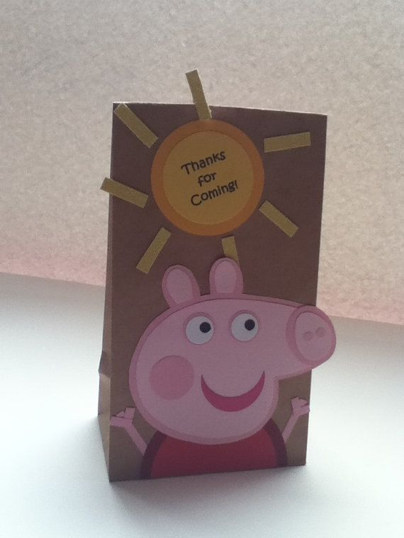 Peppa Pig inspired treat bags via Etsy