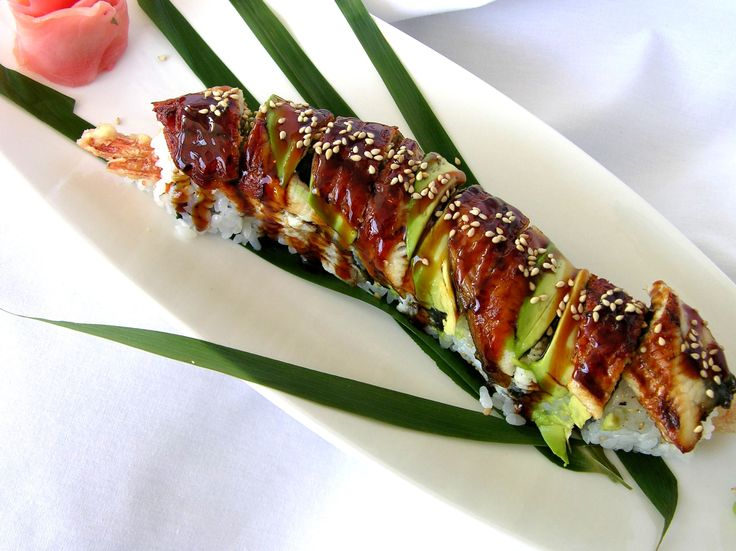 The dragon roll - one of my favorite sushi rolls.
