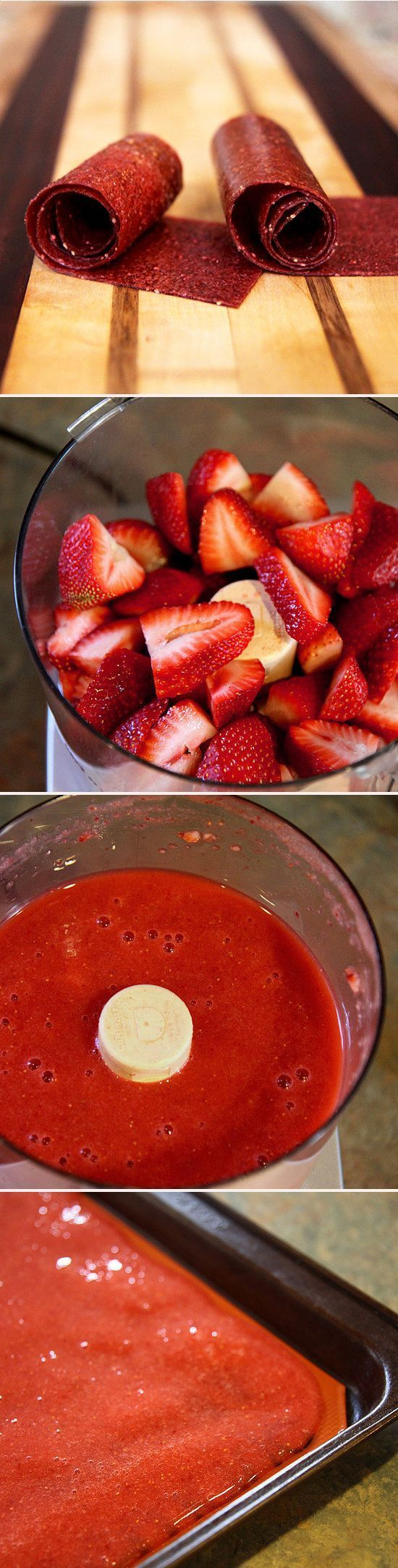 43 best dehydrator food processor recipes images on pinterest chewy and cheap homemade strawberry fruit leather forumfinder Choice Image