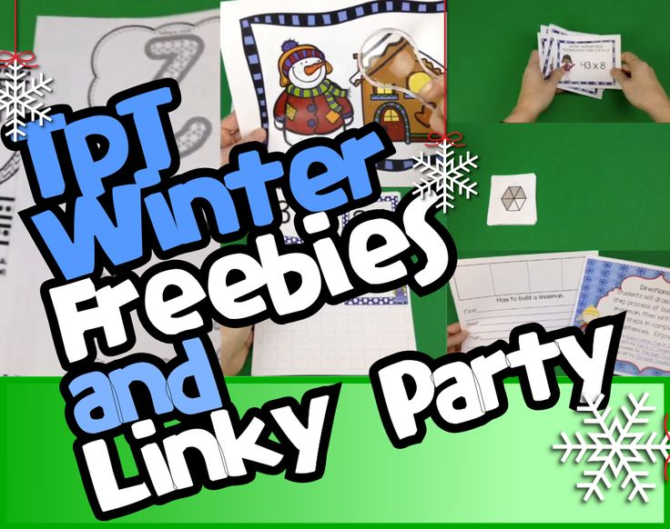 TpT Winter Freebies Video and Linky Party! Link up and join the fun!