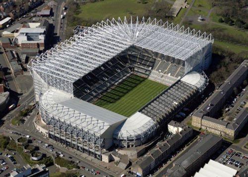 St James Park football stadium.