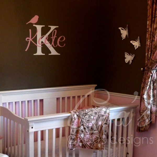 Best Examples Of Name Decals Images On Pinterest Kids Rooms - Monogram wall decals for business