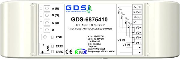 GDS Digital Systems Launches KNX 4X10A LED Dimmer with Embedded RGB Function and Energy Measurement