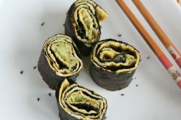 Omelet sushi wraps - Lekker eten met Linda