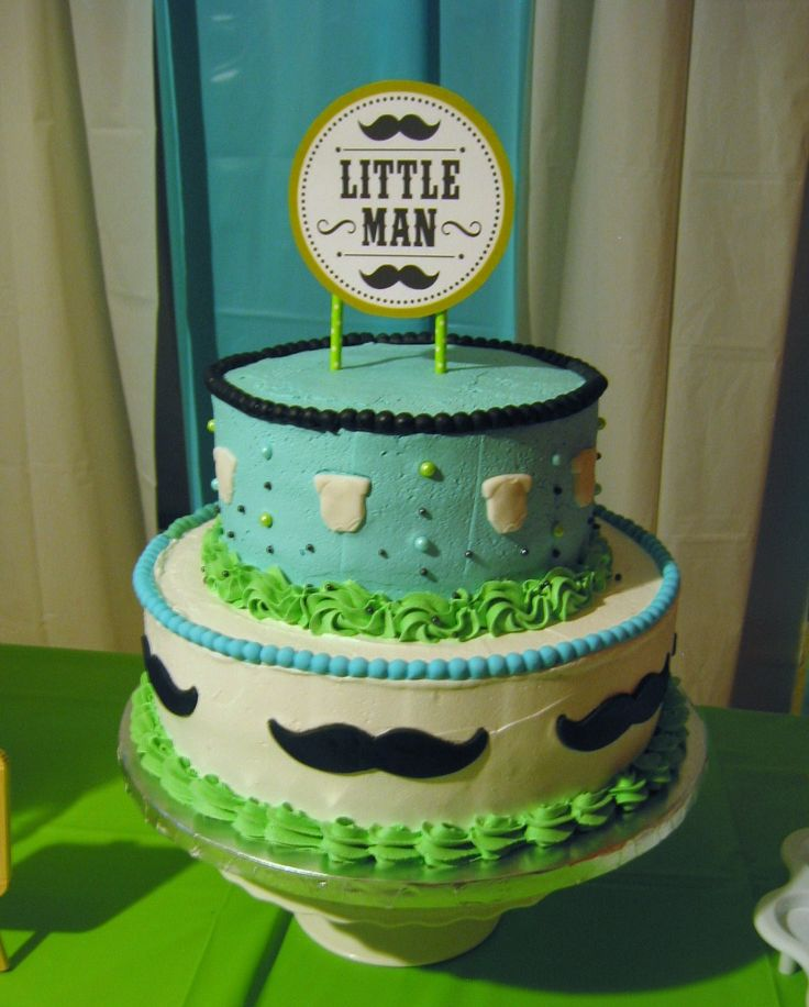 Baby Shower Little Man Cake