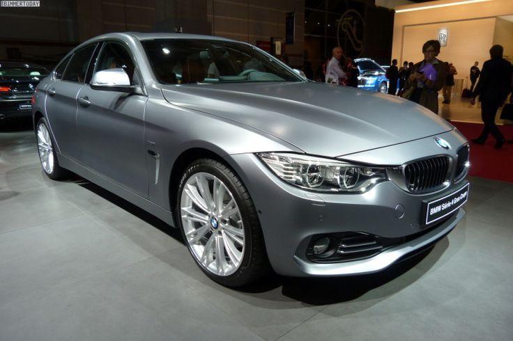 BMW 4 Gran Coupe: Frozen Cashmere Silver в Париж 2014 Очень понравился передняя часть и капот