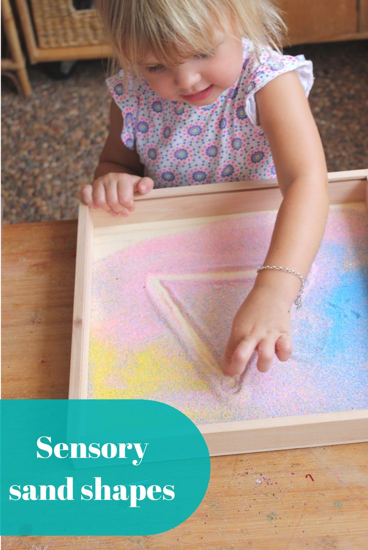 Create a colourful sand tray for your toddler, preschooler or school age child to practice patterns, shapes and letters while appealing to the senses with this brilliant range of colourful sand.... We love that you can use this experience for years to come as your child progresses from patterns, to shapes to numbers and letters.