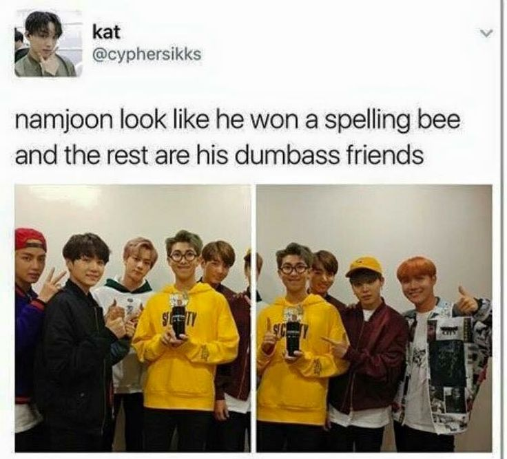 Knowing namjoon, he probably could win a spelling bee XD