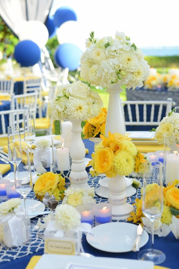 186 best wedding paradise hawaii dreams images on pinterest modern preppy blue yellow and white wedding real wedding inspiration from event essentials junglespirit Choice Image