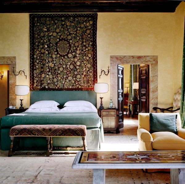 Relais & Chateaux - La Posta Vecchia, exclusive and immaculately preserved, a peaceful and unexpected hideaway, is located just outside Rome, at the end of a long tree-lined driveway – it is set amidst luxuriant green gardens and is alive with birdsong la Posta Vecchia, Roma, Italy #relaischateaux #room