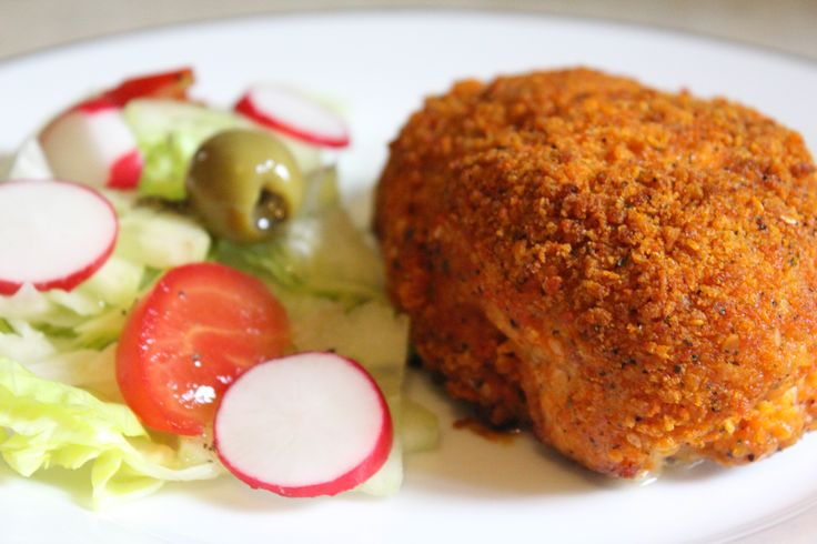 Chicken stuffed with creamy cheese and ham.